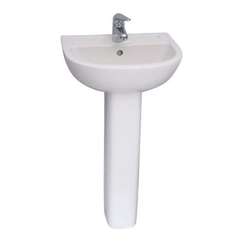 Compact 500 Pedestal Lavatory - White