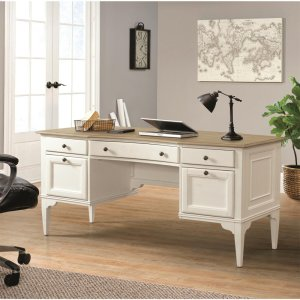 RiversideMyra - Writing Desk - Natural/paperwhite Finish