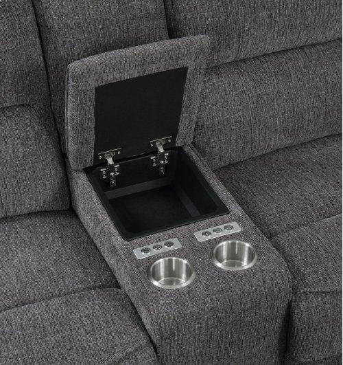 Emerald Home Aurora 3pc Sleeper Sectional Platinum U8050-13-27-46-03-k