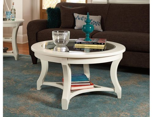 Round Glass Cocktail Table-kd