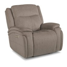 Rocket Fabric Power Gliding Recliner with Power Headrest
