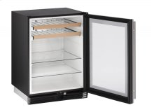 """1000 Series 24"""" Beverage Center With Stainless Frame Finish and Field Reversible Door Door Swing (115 Volts / 60 Hz)"""