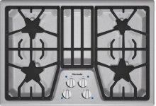 "Masterpiece 30"" stainless steel 4-burner gas cooktop"