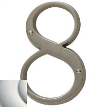 Polished Nickel with Lifetime Finish House Number - 8