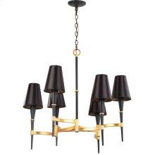 Alroy 3 Light 30-inch Dia Chandelier - Black / Gold