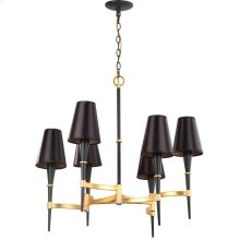 Alroy 3 Light 30-inch Dia Chandelier - Black / Gold