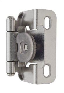 Self-closing, Single Demountable, Partial Wrap 1/2in(13mm) Overlay Hinge