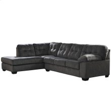 Signature Design by Ashley Accrington 2-Piece Right Side Facing Sofa Sectional in Granite Microfiber [FSD-1339SEC-2RAFS-GRT-GG]