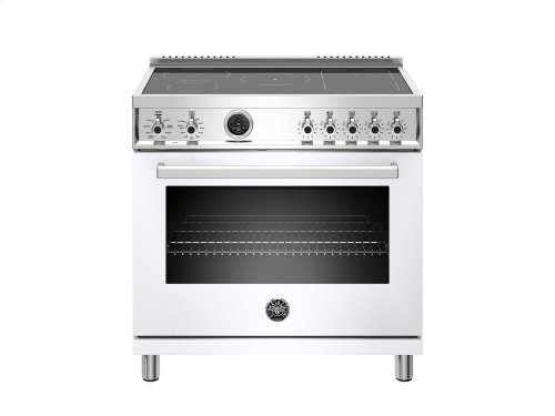 36 inch 5-Induction Zones, Electric Self-Clean oven White