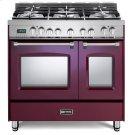 "Burgundy 36"" Prestige Dual Fuel Double Oven Range Product Image"