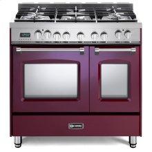 "Burgundy 36"" Prestige Dual Fuel Double Oven Range"