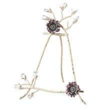 Distressed Ivory Jewel Flower Stand