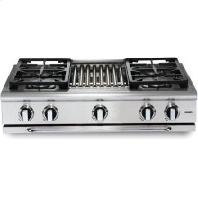 "36"" 4 Burner w/Griddle Gas Rangetop - NG"