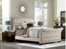 Richmond Upholstered Side Rails - Queen - Linen Stone Product Image