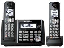 Expandable Cordless Phone with Call Block and Answering Machine - 2 Handsets - KX-TG3752B