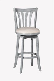 Savana Swivel Bar Stool - Blue Wire Brush