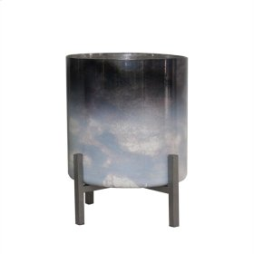Dark Ombre Glass Planter 9.25""