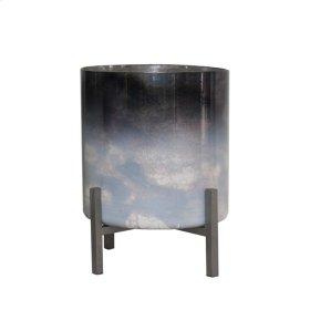 """Dark Ombre Glass Planter 10"""""""