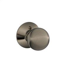 Orbit Knob Non-turning Lock - Antique Pewter