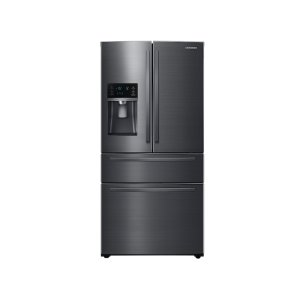 SAMSUNG25 cu. ft. Large Capacity 4-Door French Door Refrigerator with External Water & Ice Dispenser in Black Stainless Steel
