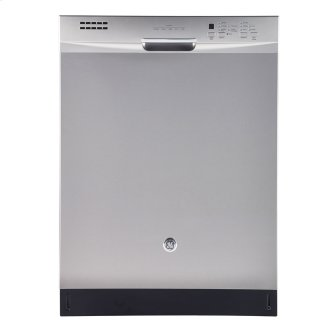 """GE 24"""" Built-In Stainless Steel Tall Tub Dishwasher Stainless Steel GBF630SSLSS"""