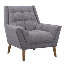 Armen Living Cobra Mid-Century Modern Chair in Dark Gray Linen and Walnut Legs