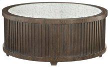 Clarendon Round Cocktail Table in Clarendon Arabica (377)