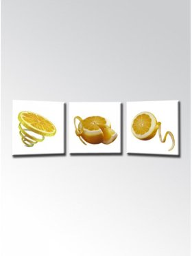Peeled Oranges 3 Pcs Non-frame Painting - Materials From Germany