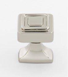Cube Knob A985-1 - Polished Nickel