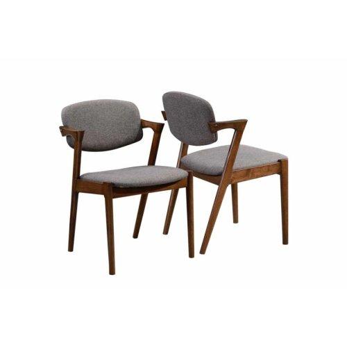 Malone Mid-century Modern Dark Walnut Dining Chair