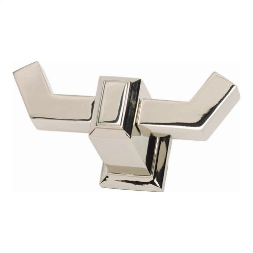 Sutton Place Bath Double Hook - Polished Nickel