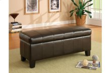 Lift-Top Storage Bench, Dark Brown