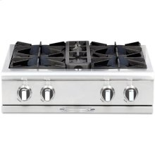 "30"" Gas Range Top with 4 Open Burners"