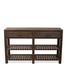 Magnolia Hill Console Table Burnished Brown Oak finish