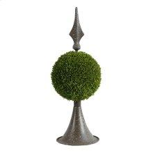 Spired Sphere Boxwood Topiary
