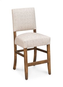 "Cornelia Stationary Barstool, Cornelia Stationary Barstool, 24""h, Fabric Seat and Back"