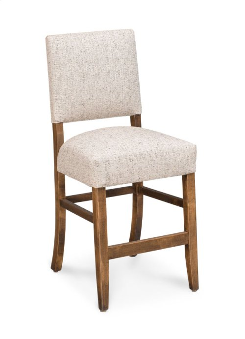 "Cornelia Stationary Barstool, Cornelia Stationary Barstool, 30""h, Fabric Seat and Back"