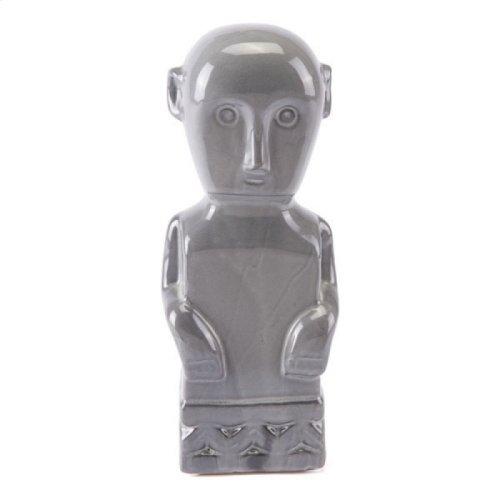 Maya Figurine Lg Gray