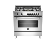 36 5-Burner, Electric Self-Clean Oven Stainless