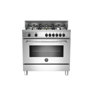 36 5-Burner, Electric Self-Clean Oven Stainless -