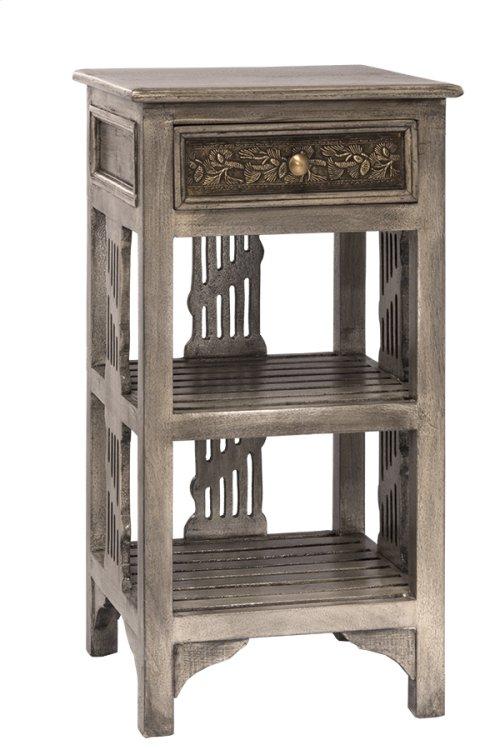 Alena Two Shelf Stand - Graywash