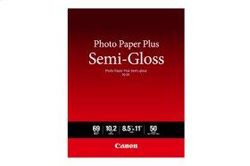 Canon Photo Paper Plus Semi-Gloss 8.5x11 50 Sheets Photo Paper Plus Semi-gloss SG-201 Letter Size - 50 Sheets