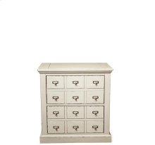 Huntleigh Two Drawer Nightstand Vintage White finish