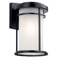"Toman 13.5"" 1 Light Wall Light Black"