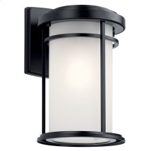 "Toman 13.5"" 1 Light Wall Light Black"