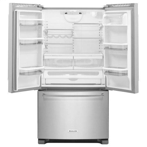 25 Cu. Ft. 36-Width Standard Depth French Door Refrigerator with Interior Dispense - Stainless Steel