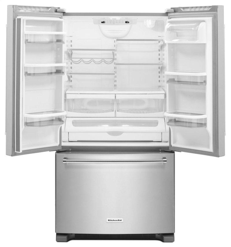 25 Cu Ft 36 Width Standard Depth French Door Refrigerator With Interior Dispense Stainless Steel