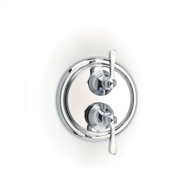 Polished Chrome Summit (Series 11) Dual Control Thermostatic with Diverter and Volume Control Valve Trim