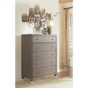 Dara Two - Five Drawer Chest - Gray Wash Finish Product Image
