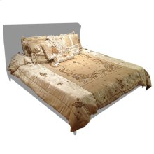 Lolita Rayon Light Beige 9 Pc Comforter Set